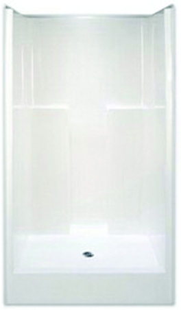 "Center Drain Smooth Wall Showers, 42"" x 37"" x 74"", Gelcoat White"