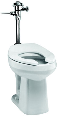 "SmartHeight, Elongated Front Toilet, Less Flushometer, White Color, 10"" Rough-In"
