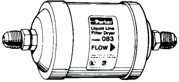 052S 1/4 OD LIQUID LINE DRYER
