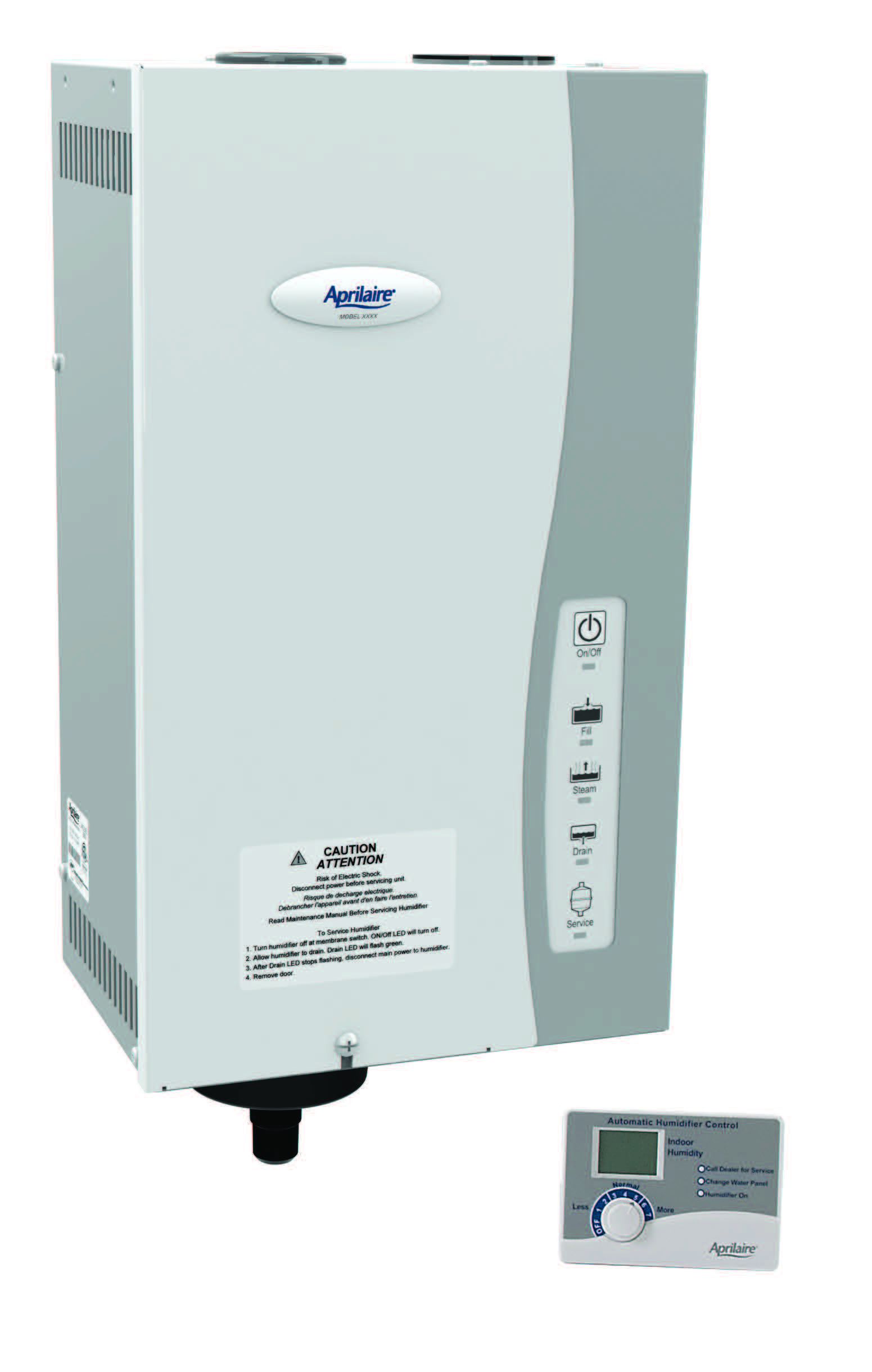 Aprilaire Steam Humidifier designed for home applications where evaporative humidifiers are less practical.