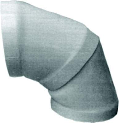 "8"" PVC Air Duct 45° Elbow"