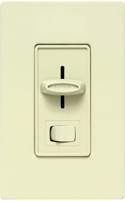 White 1 Pole/3-Way, Slide Dimmer Switch