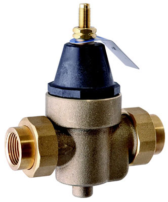 "1"" Double Union Water Pressure Reducing Valve, QC Union Inlet & Outlet, 400 PSI"