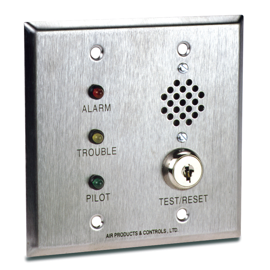 Remote Alarm with Pilot, Trouble, Key & Horn for Double Gang Box