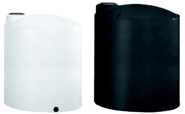 Vertical Water Storage Tank, 2500 Gallon, White