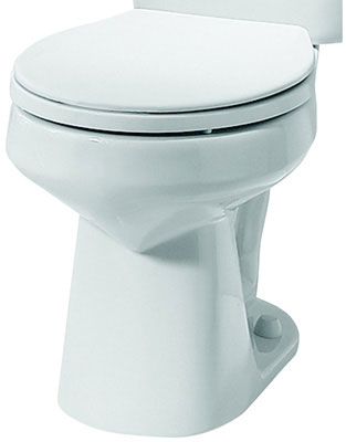 Round Front Toilet Bowl, Biscuit Color, 1.6 gpf / 6.0 lpf Water Usage
