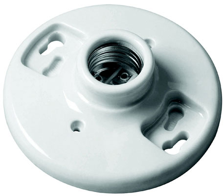 "660W, 250V 3-1/4""-4"" 1 Piece Porcelain Keyless Ceiling Receptacle"