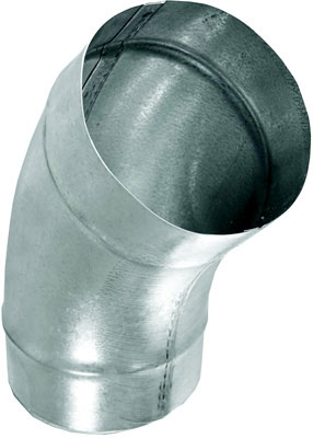 "10"" 45° Spiral Pipe Elbow, G-90 Galvanized"