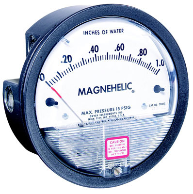 "0-1.0"" w.c. Range Magnehelic Differential Pressure Gage"