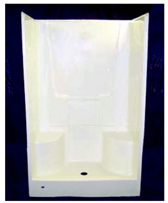White 2 piece seated shower. Use door A0248 (silver)