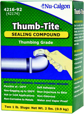 Thumb-Tite Insulation Sealing Slug, 2 lb Boxes