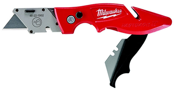 Milwaukee Fastback Flip Utility Knife With Blade Storage, Metal Blade, 6-3/4 in OAL