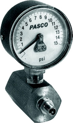0-15 PSI, Gauge Scaled in 1/10 PSI Increments