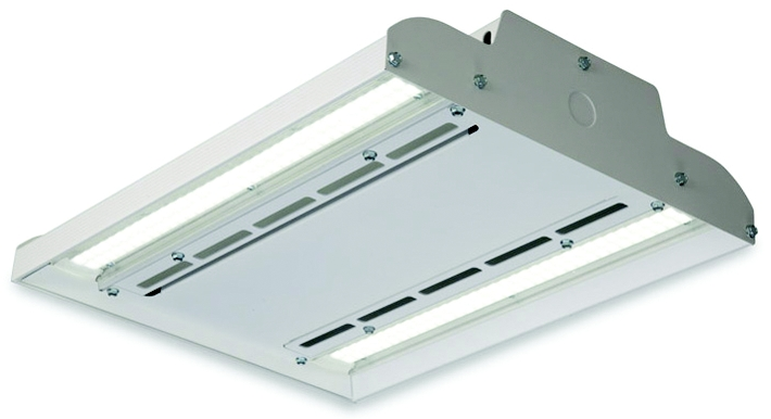 Albeo LED Luminaire High Bay Lighting, 120/277 Volts, 1 Module, White Powder Coat Finish