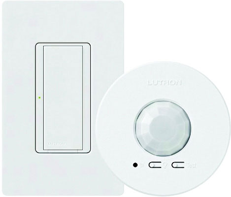 Maestro Receiving Device, Radio Powr Savr Ceiling Sensor, 8 A Switch, 120 - 277V, 50/60 Hz, White