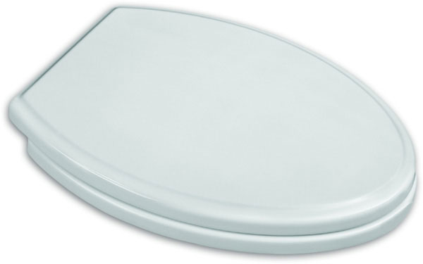 Town Square Traditional Luxury Elongated Toilet Seat with Slow-Close & Push Button Lift Off, Linen