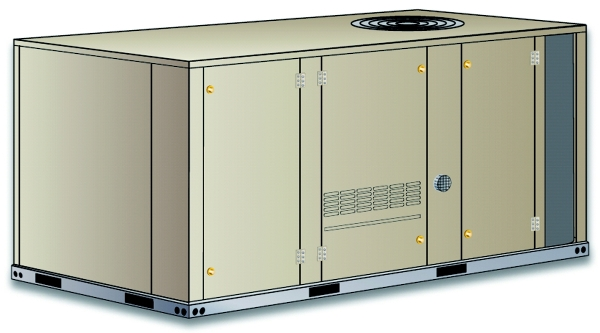 Packaged Gas Heat with Electric Cooling, 5 Ton, R410A, 14 Seer, 208/230V-1-60hz, High Gas Heat, 2 Stage