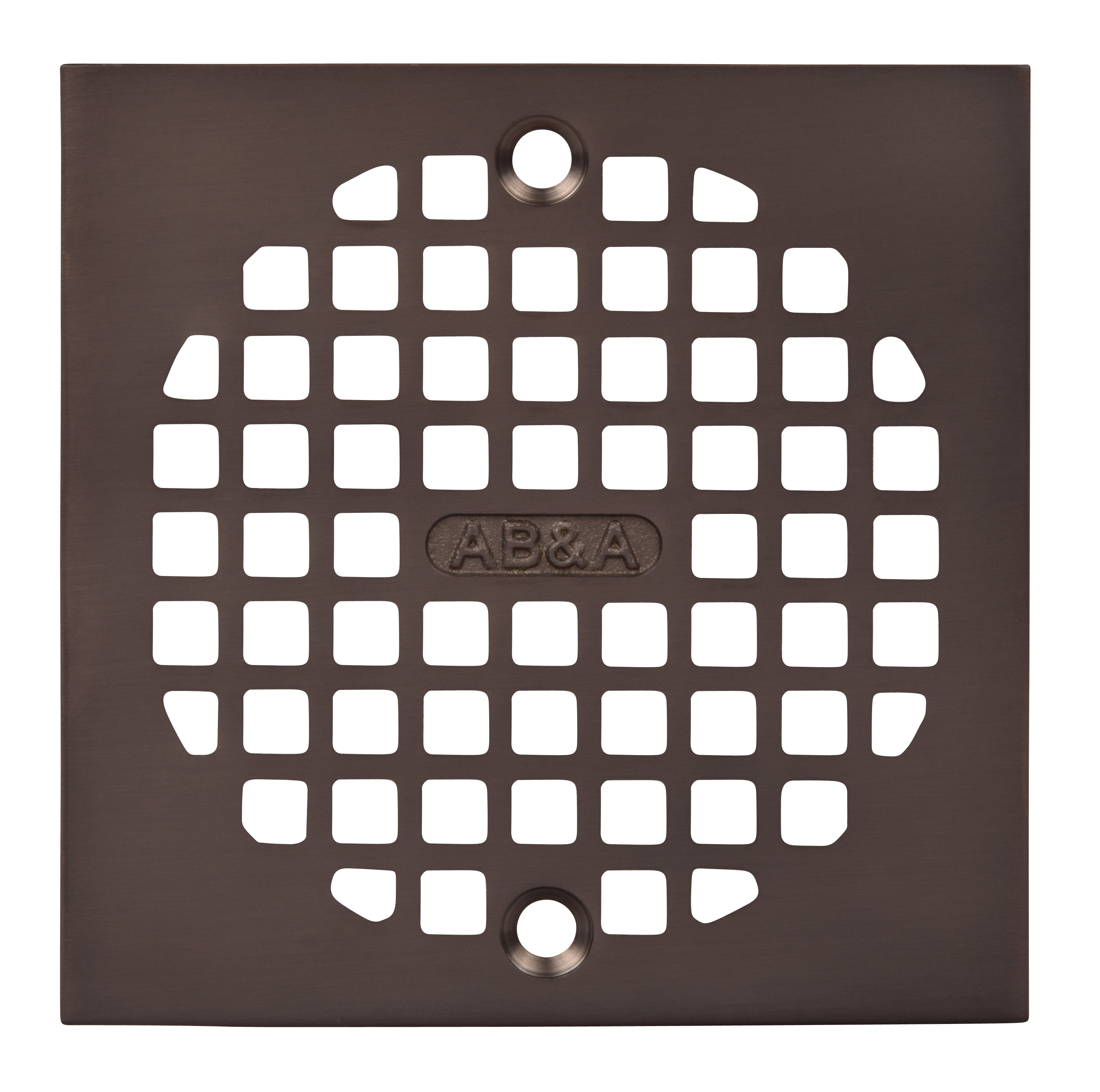 AB&A Grate Cast Brass Sq 4 1/4 ORB, Square Grate