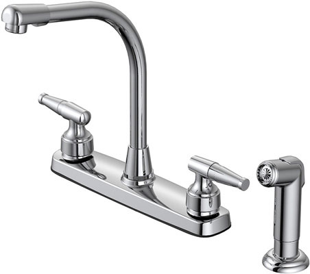"8"" Hi-rise Faucet With Spray"