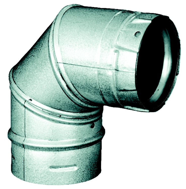 "3"" PelletVent Pro 90° Elbow, Non-Adjustable Angle, 360° Swivel"