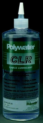 1 Quart Transparent Polywater CLR Clear Lubricant