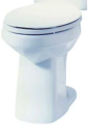 SmartHeight Elongated Front Toilet Bowl, Biscuit Color, 1.6 gpf / 6.0 lpf Water Usage