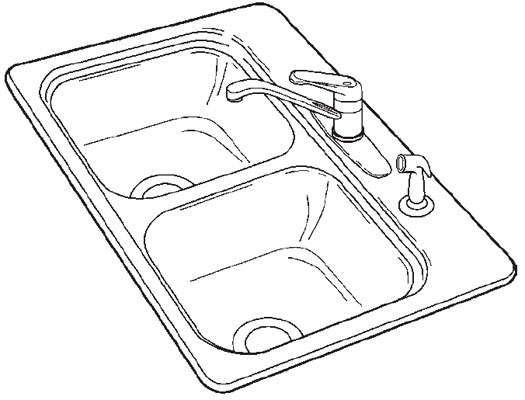 Biscuit Double Bowl Self-Rimming Sink