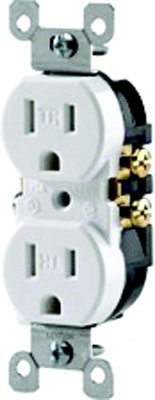 15a Tamper & Weather Resist Duplex Receptacle White