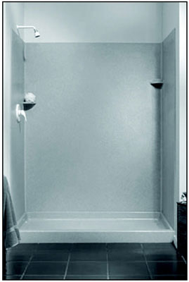 "34"" x 48"" x 72"" Shower Walls White"