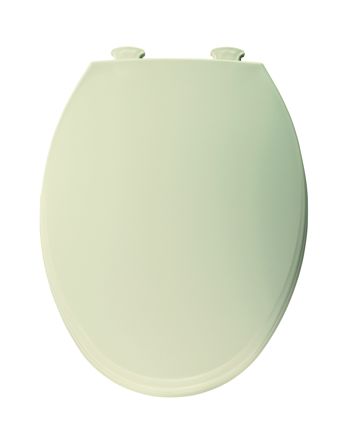 Elongated Plastic Toilet Seat with Easy Clean & Change Hinge Bone