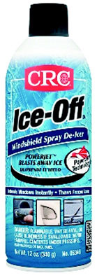 Ice-Off Windshield Spray De-Icer, Colorless Liquid, Pungent, 54°F Flashpoint, 12 oz