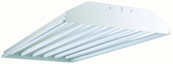 4' Six Lamp Full Bodied Fluorescent High Bay with Hooks, 54W T5HO, Miro-4