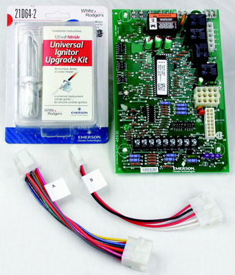 Universal Two Stage Hot Surface Ignition Control, 3 Speed (PSC) Circulator Furnace Control Kit