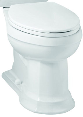 Elongated Front SmartHeight Toilet Bowl, Less Toilet Seat, White Color, 1.28 gpf / 4.86 lpf Water Usage