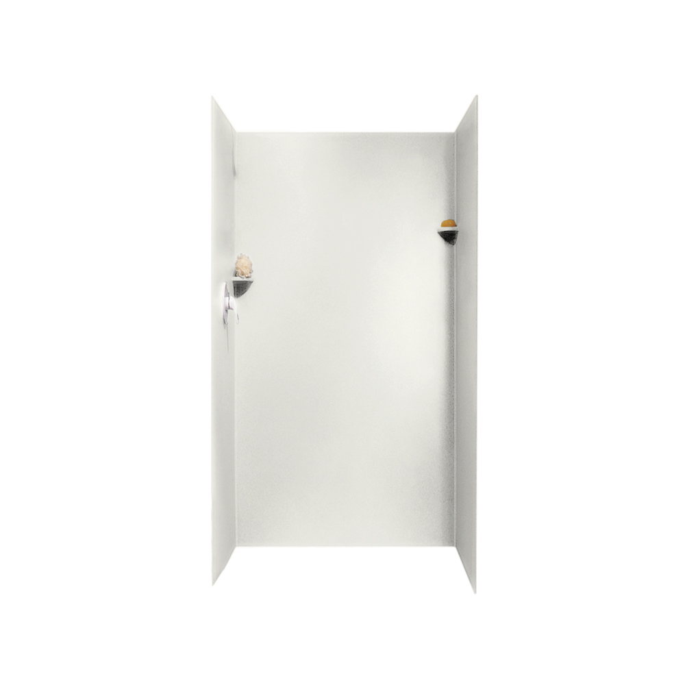 "Solid Surface 36"" x 36"" x 72"" Shower Wall Kit in Bisque"