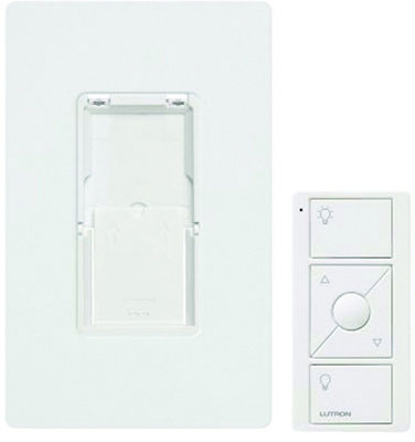 Ariadni C.L AYCL-253P-WH 3-Way Traditional Style Dimmer Switch, 120 VAC, 1 Pole, Side Slide On/Off Operation Mode, White