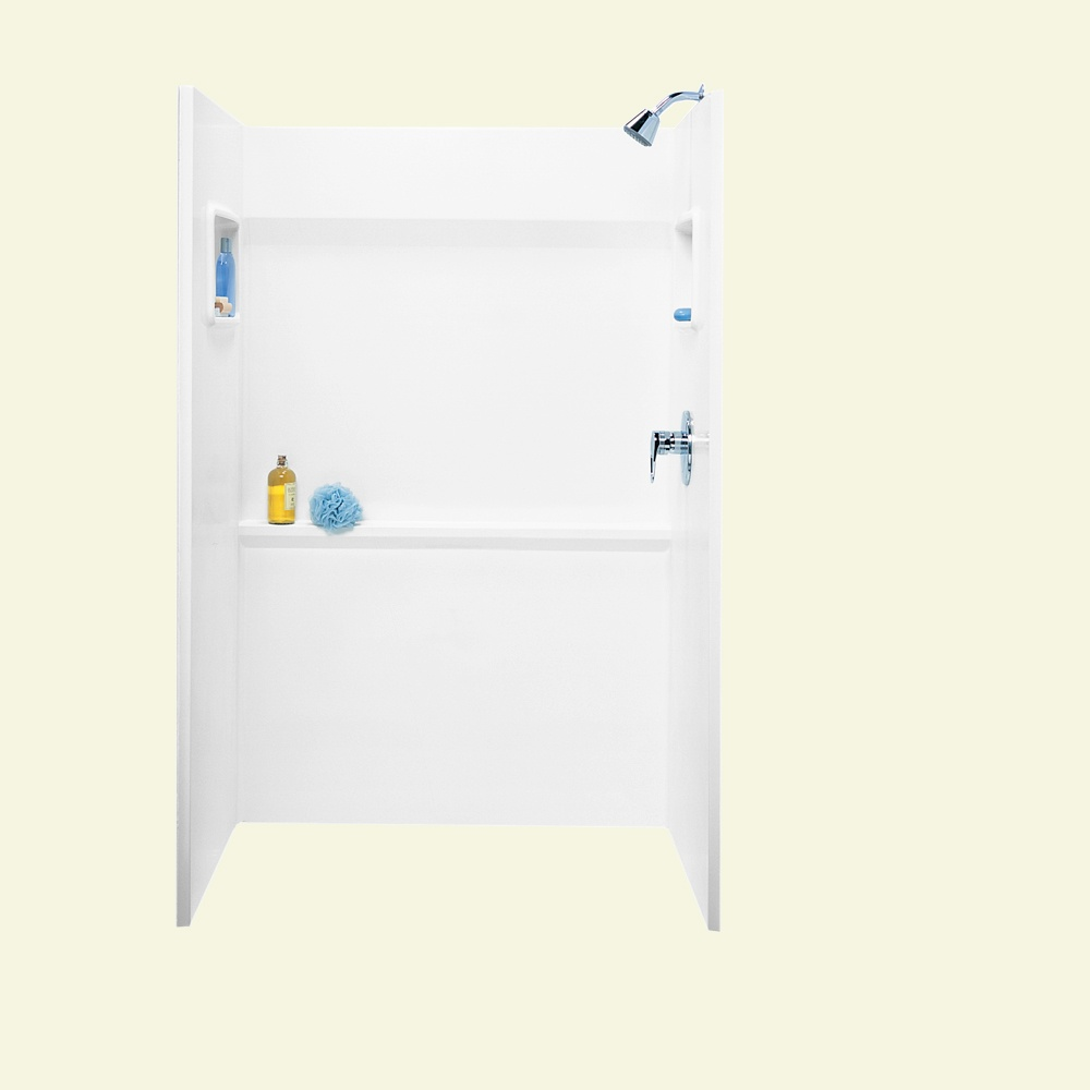 "Veritek 34"" x 48"" x 72"" Shower Alcove in White"