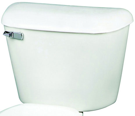 Toilet Tank And Cover with Chrome Plated Plastic Trip Lever, White Color, 1.6 gpf / 6.0 lpf Water Usage