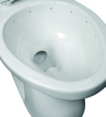 Elongated Front Rimless Toilet Bowl, 1.28 gpf / 4.86 lpf Water Usage