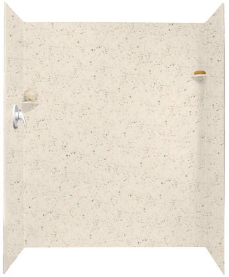 "Solid Surface Shower Wall Kit 34"" x 48"" x 72"", Tahiti Desert"