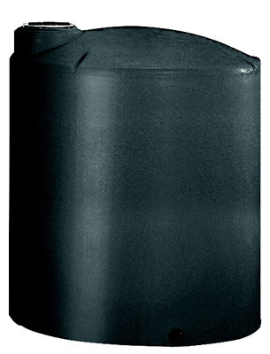 Vertical Water Storage Tank, 5000 Gallon, Black