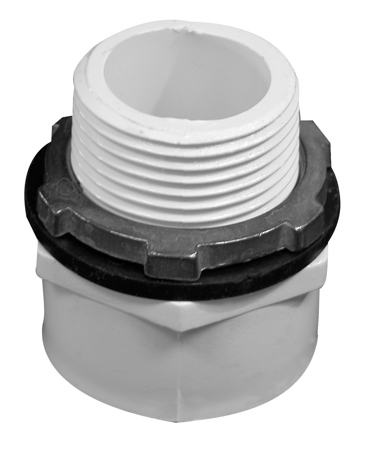 Adapter Kit for Plastic and Aluminum Washing Machine Pans, Combination 1 x 1 1/2 Male Adapter Drain Kit.