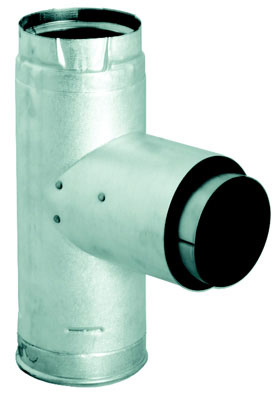 "3"" PelletVent Pro Adapter Tee with Clean-Out Tee Cap"