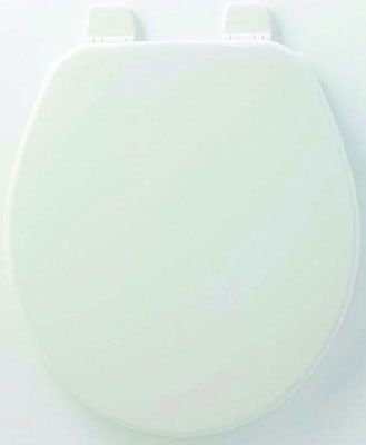 Round Molded Wood Toilet Seat w/ TOP-TITE® Bolts & Wing Nuts, Change Hinge and STA-TITE, Biscuit