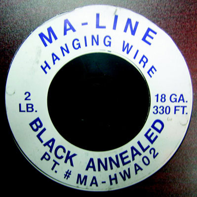 18 Gauge Black Annealed Hanging Wire, 2 Lb.