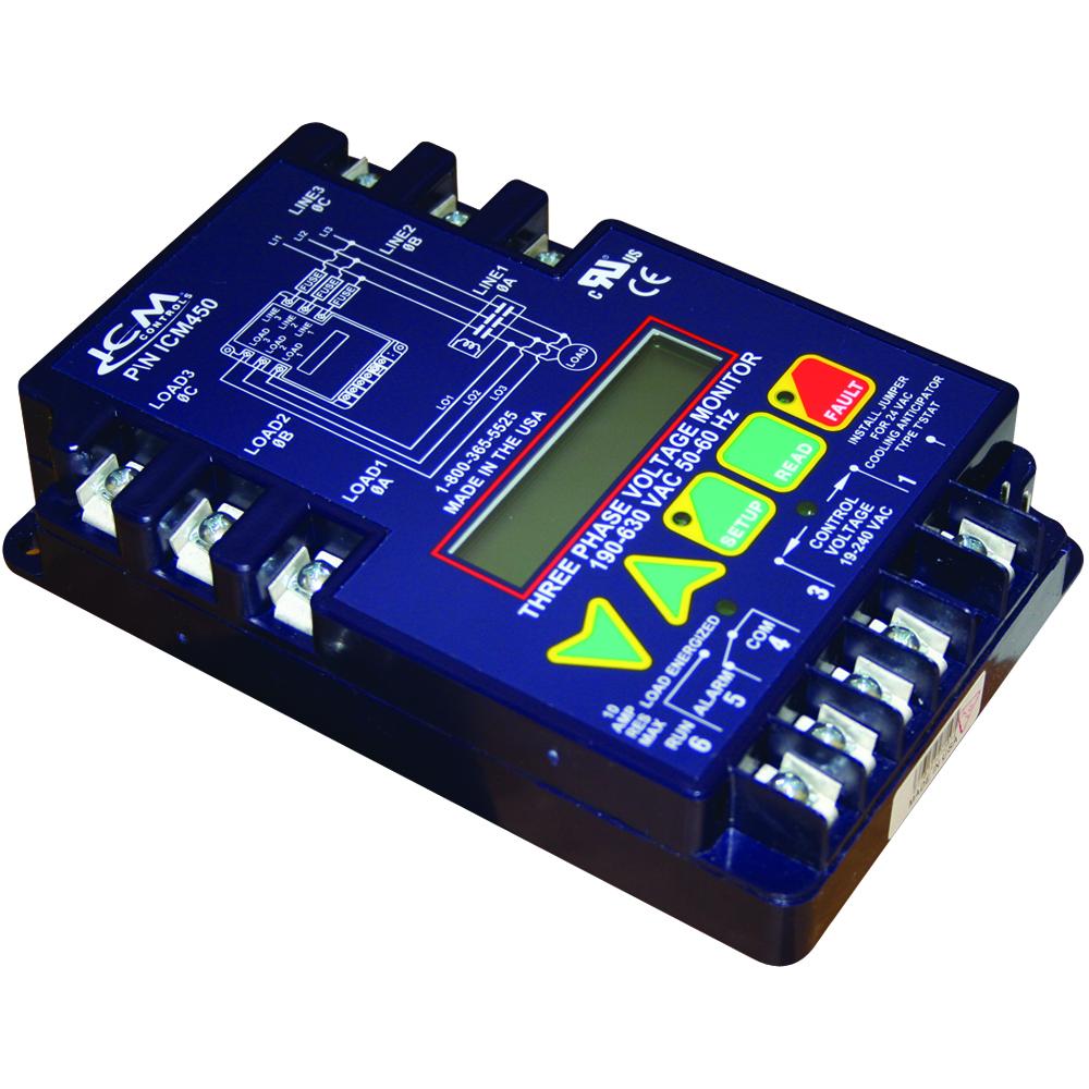 Products Repair Parts Com Ignition Control Main Circuit Board Rheem Ruud 3 Phase Monitor Lcd Display Field Adjustable 190 630 Vac