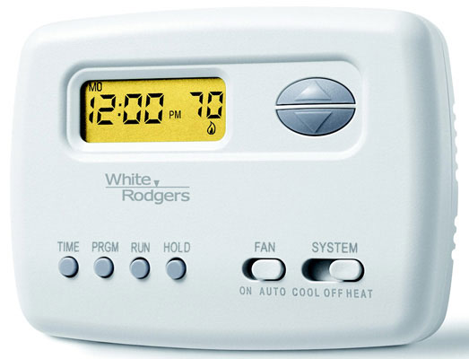 Economy Single Stage (1H/1C) Digital Thermostat, 5 2 Day Programmable, 24 Volts Or Millivolt, Horizontal, Range 45-90° F