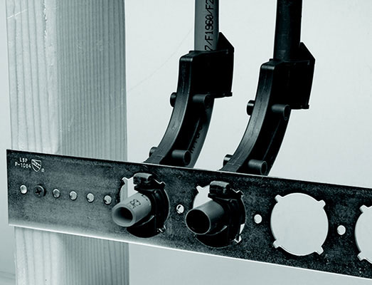 "20"" Galvanized 1-3/8"" Notched Holes PipeSecure Bracket"