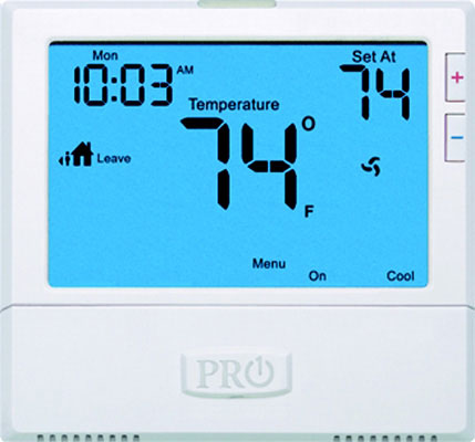 T855 Thermostat 7 Day or 5/1/1 Programmable, 3 Heat 2 Cool
