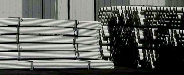 white pvc - plastic pipe